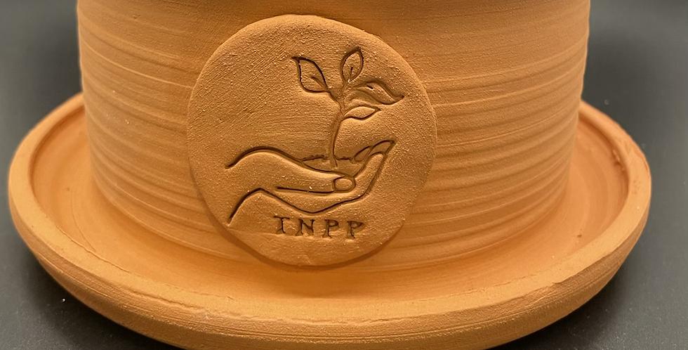 Custom made terra cotta pot with TNPP stamp 8in