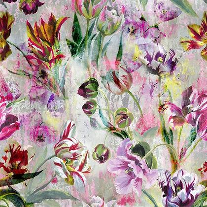 Tulipa Stellata Fuchsia | Tapet | Designers Guild