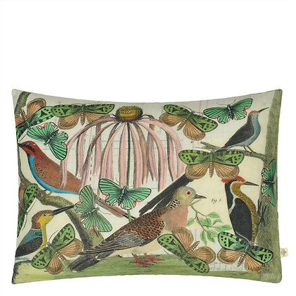 Floral Aviary Parchment | Kudde | John Derian for Designers Guild