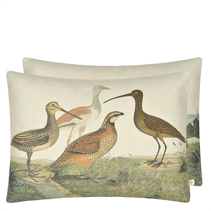Birds of a Feather Parchment | Kudde | John Derian for Designers Guild