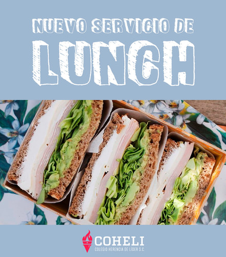 Nuevo servicio Lunch Escolar.