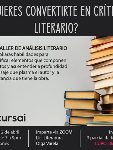 Taller Análisis Literario
