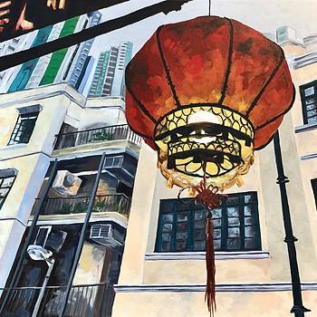 Mid-Autumn Lantern at Dusk, Hong Kong