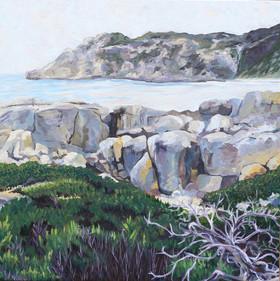 Big boulders in Western Australian landscape
