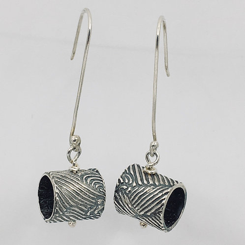 Patterned Tube Earrings