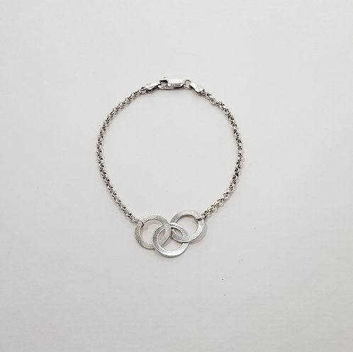 Sterling Three Rings Bracelet