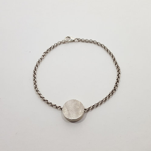 Sterling Oval Hollow Form Bracelet