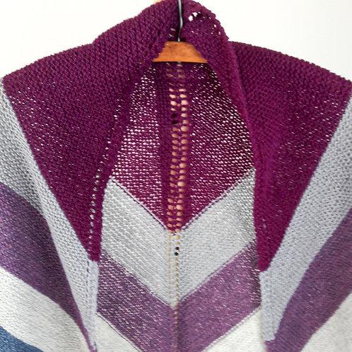 Triangular Striped Scarf or Shawl