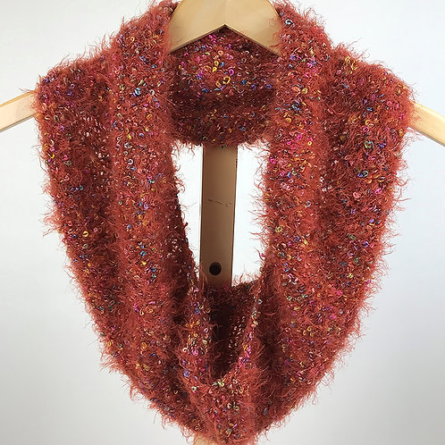 Fuzzy Orange Cowl