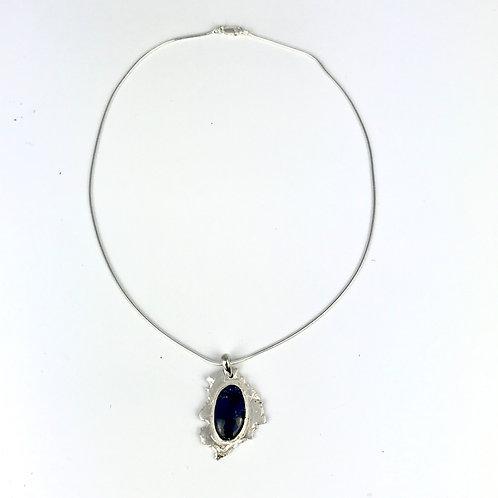 Azurite in sterling silver