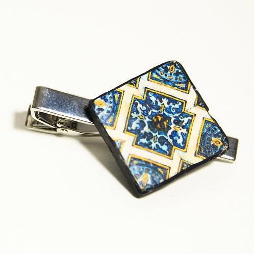 Geometric Tile Tie Clip