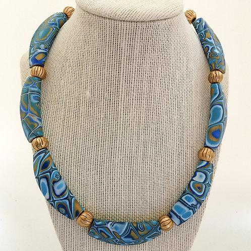 Folded Bead Necklace