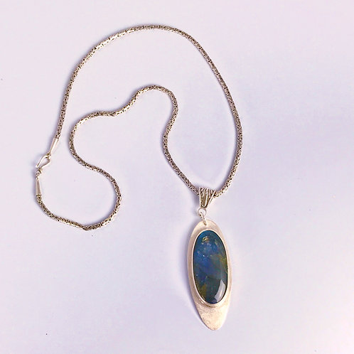 Labradorite on Sterling Backplate
