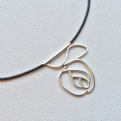 """Sterling Silver Necklace """"Rose"""""""