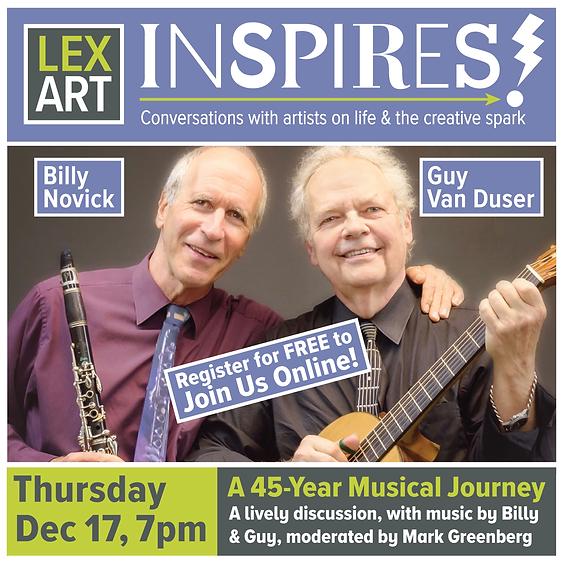 LexArt Inspires! with Bill Novick and Guy van Duser