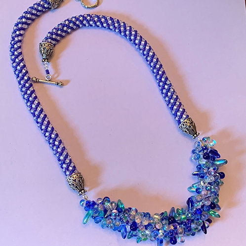 Blue Hues Drops and Daggers with Russian Spiral