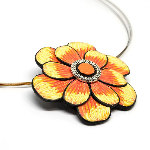 Sunset Bloom Necklace Pin