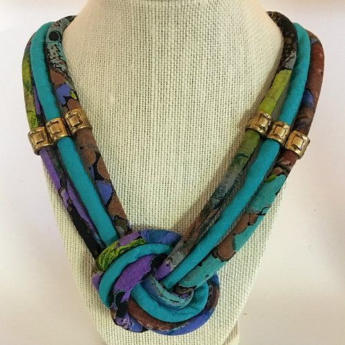 Multi-Strand Fabric Rope Necklace