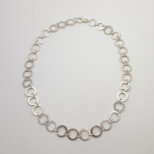 Sterling Washer Necklace