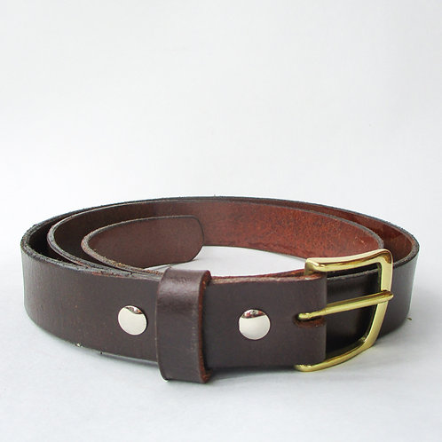 Belt of brown leather size 44 (not pants size)