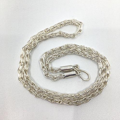 Hand-Fabricated Fine Silver Loop-in-Loop Chain