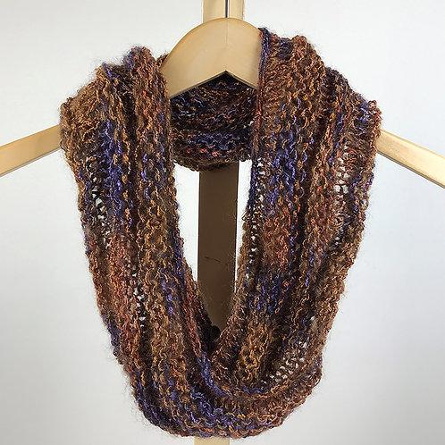 Copper, Rust & Purple Mobius Cowl