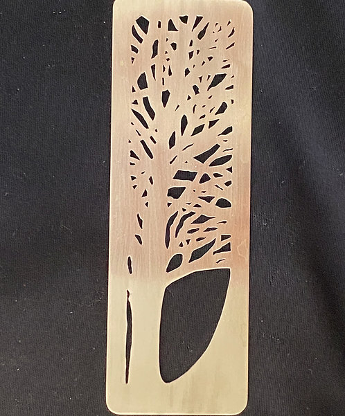 Sterling Silver, Cutout Bookmark