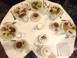 April showers bring May flowers…and high tea!