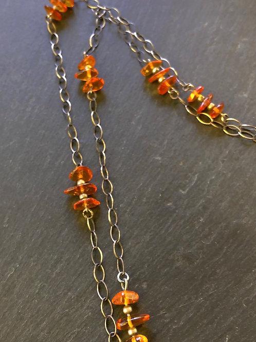 Baltic amber chain