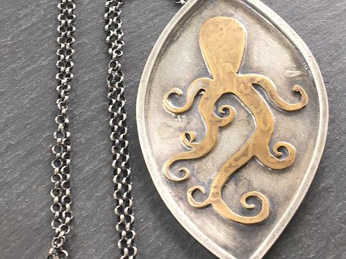 Happy octopus pendant