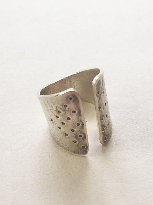 Sterling cuff ring