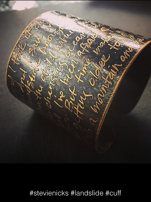 Personallized poem or song cuff bracelet