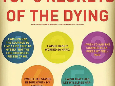 Covid Mental Health Challenge #12- The Top Five Regrets of the Dying