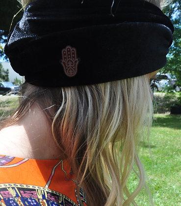 Black Velvet Headwrap