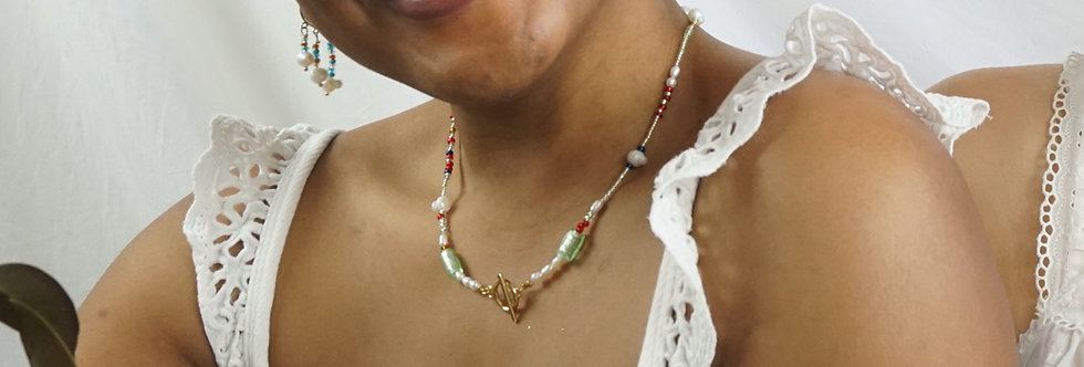 Reunited Again Freshwater Pearl Chocker Necklace