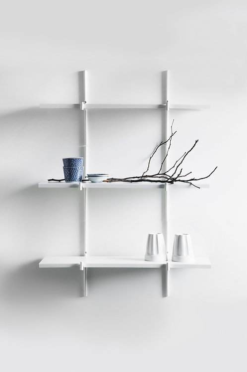 Kit with 3 Haru Shelves | white