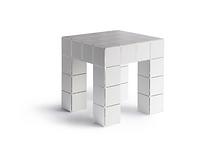 Mesinha Block geométrica branca