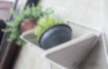 Módulo Jardim - suporte para plantas em metal e concreto