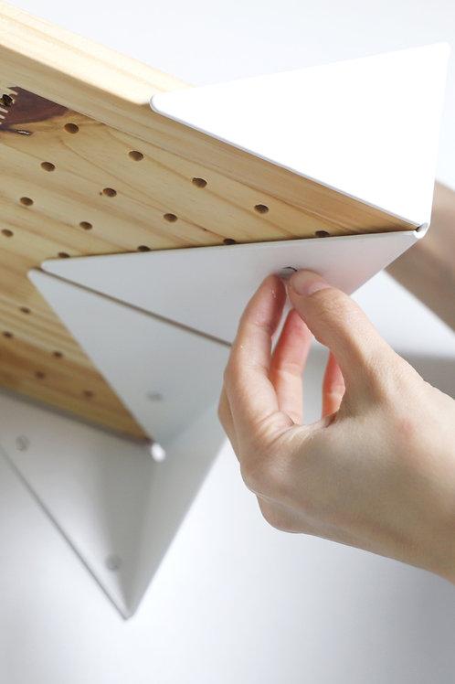 Wing Shelf white | natural base