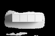 Prateleira Block geométrica branca