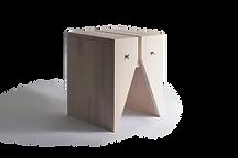 Mesa lateral ou banco de madeira branco com design contemporâneo