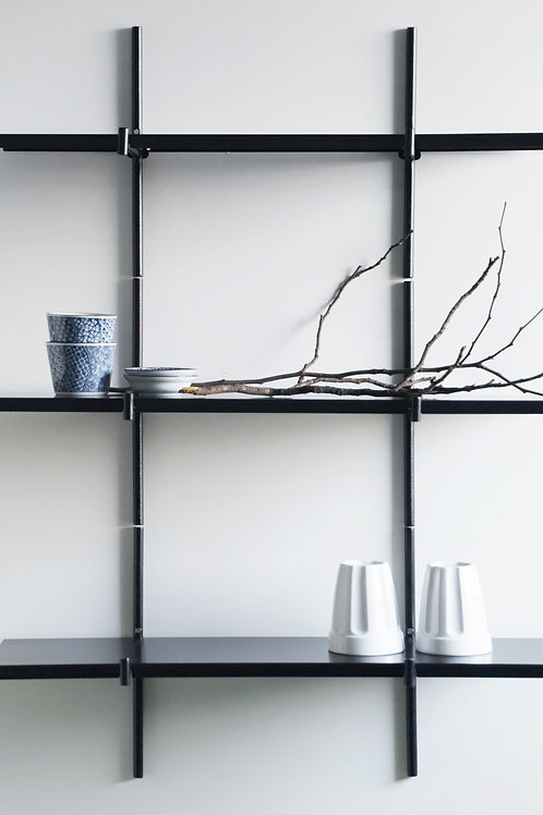 Kit with 3 Haru Shelves | black