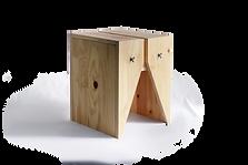 Mesa lateral ou banco de madeira com design contemporâneo
