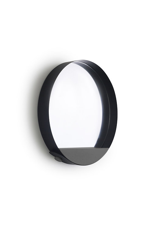 Espelho Loop preto | base preta