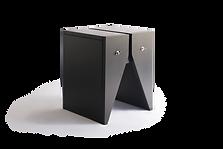 Mesa lateral ou banco de madeira preto com design contemporâneo