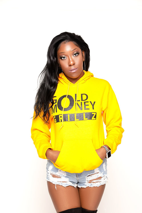 Gold Money Grill Z Signiture Sunny Hoodie