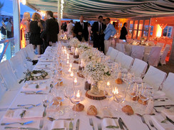 Table des mariés & lampions