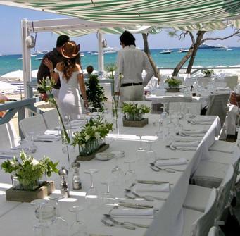 Décoration table d'honneur mariage bohème