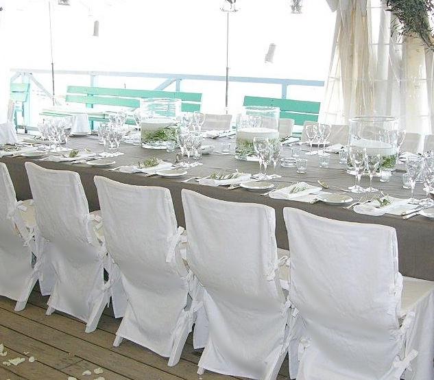 Housse de chaise / coton blanc