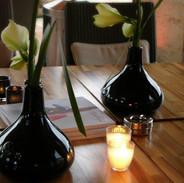 "Vase ""Lotus"" noir"